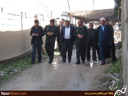شرکت مسئولان ناحیه مقاومت ممسنی در مراسم شهید قاجاری