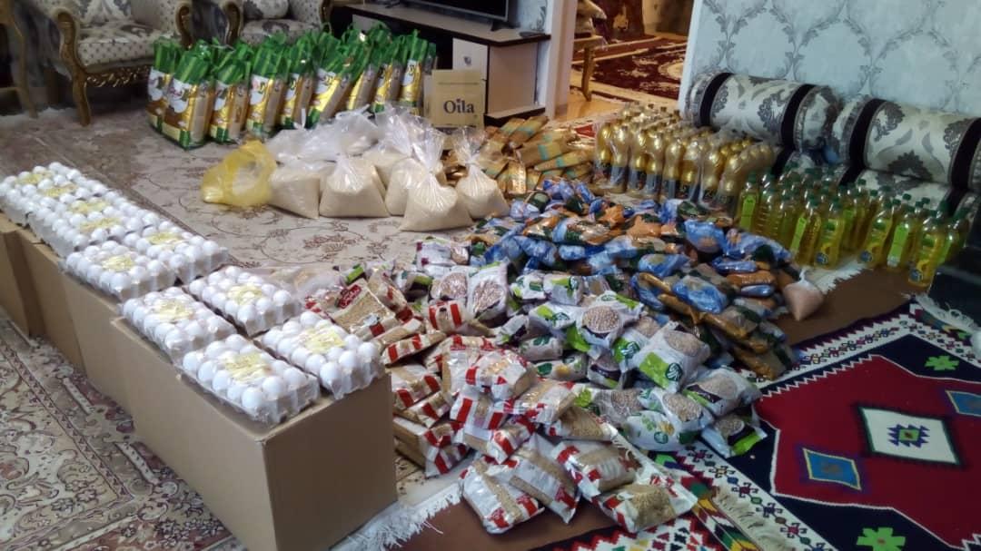 اهداء ۵۰ سبد کالای غذایی به نیازمندان در شب قدر
