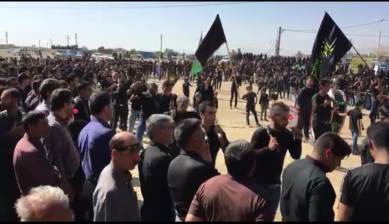 عزاداری قشقایی های شهرضا در روز تاسوعا/کلیپ